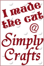 Winner's badge for simply crafts challenge blog